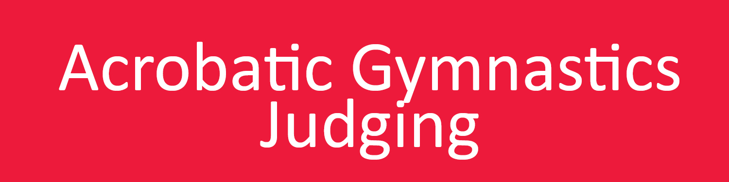 Acrobatic Gymnastics Judging